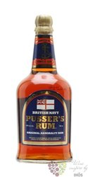 "Pusser´s British navy "" Blue label "" rum of Virginia islands 40% vol.   0.70 l"