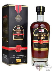 "Pusser´s British navy "" Nelson´s Blood "" aged 15 years rum of Virginia Islands 40% vol.   0.70 l"