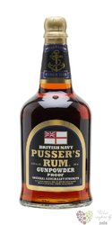 "Pusser´s British navy "" Gunpowder Black label "" overproof rum of Virginia Islands 54.5% vol. 0.70 l"
