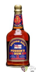 "Pusser´s British navy "" Blue overproof "" very strong rum of Virginia Islands 75% vol.  0.70 l"
