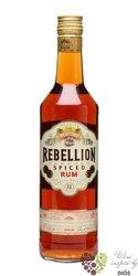 "Rebellion "" Spiced "" flavored Caribbean rum 37.5% vol.   0.70 l"