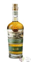 """Conde de Cuba """" Elixir del Caribe """" rum liqueur of Dominican republic 32% vol. 0.70 l"""