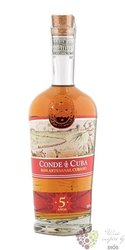 Conde de Cuba aged 5 years rum of Dominican republic 38% vol. 0.70 l