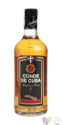 Conde de Cuba aged 7 years caribbean rum of Dominican republic 40% vol.    0.70l