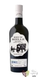 """Bielle agricole vieux 2001 """" Brut de fut """" aged vintage rum of Guadeloupe 45% vol.   0.70 l"""