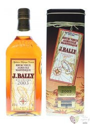 "J.Bally agricole vieux 2003 "" Millesime "" vintage rum of Martinique 43% vol.   0.70 l"