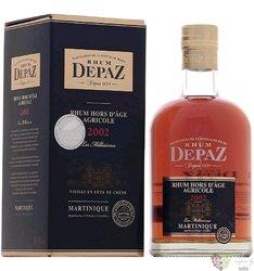 """Depaz agricole vieux 2002 """" Hors d´Age Millesimes """" aged Martinique rum 45% vol.  0.70 l"""