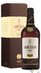 "Abuelo "" Aňejo 12 aňos "" aged Panamas rum 40% vol.  0.70 l"