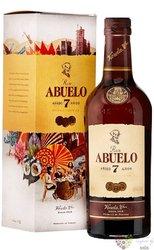 "Abuelo "" Aňejo 7 aňos "" aged Panamas rum 37.5% vol.  0.70 l"