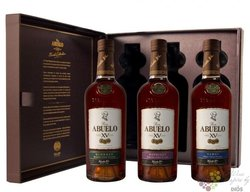 "Abuelo Xv finish collection "" Tasting set "" Panamas rum 40% vol.  3x0.20 l"