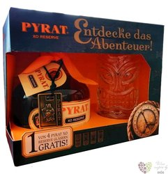 "Pyrat "" XO Reserve "" glass set of unique rum of Anquila 40% vol.  0.70 l"