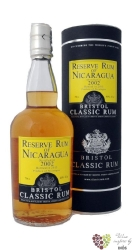 "Bristol Classic "" Reserve of Nicaragua "" 2002 aged rum 40% vol.    0.70 l"