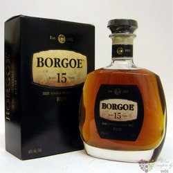 "Borgoe "" Single barrel "" aged 15 years rum of Suriname 40% vol.    0.70 l"