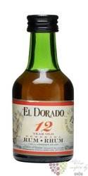 "El Dorado "" Luxury cask aged "" 12 years old rum of Guyana by Demerara 40% vol. 0.05 l"