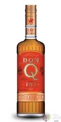 """Serrallés Don Q """" 151 """" aged Puerto Rican rum 75.5% vol.  0.70 l"""