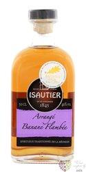 """Isautier agrcole """" Arrangé Banane flambée """" flavored Reunion rum 40% vol.  0.50l"""