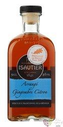 """Isautier agrcole """" Arrangé Gingembre Citron """" flavored Reunion rum 40% vol.  0.50 l"""