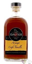 """Isautier agrcole """" Arrangé Café vanille """" flavored Reunion rum 40% vol.  0.50 l"""