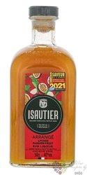 """Isautier """" Arrangé Lychee Passion fruit """" flavored Reunion rum 40% vol.  0.50 l"""