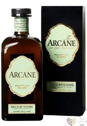 "Arcane "" Delicatissime "" gift box golden agricole pure cane rum of Mauritius Island 41% vol.  0.70 l"