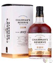 """Chairmans """" Reserve """" 2005 vintage Saint Lucian rum 40% vol. 0.70 l"""