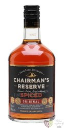 "Chairman´s "" Reserve spiced "" aged rum of St. Lucia distillers 40% vol.  0.70 l"