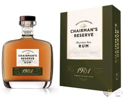 "Chairman´s "" Reserve 1931 "" unique Saint Lucian rum 46% vol. 0.70 l"
