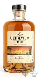"Ultimatum single cask 1999 "" Secret distillery "" aged 18 years Nicaraguan rum 46% vol.  0.70 l"