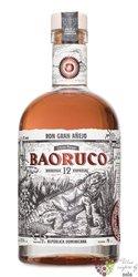 """Baoruco Parque edicion limitada """" Gran anejo """" aged 12 years Dominican rum 37.5% vol.  0.50 l"""