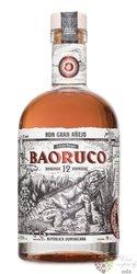 """Baoruco Parque edicion limitada """" Gran anejo """" aged 12 years Dominican rum 37.5% vol.  0.70 l"""