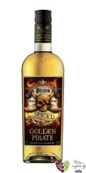 Golden Pirate spiced flavored caribean rum of Denmark 32% vol.   1.00 l