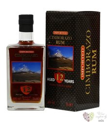 Cimborazo 12 years old aged vulcani rum of Ecuador 40% vol.    0.70 l