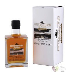 Cotopaxi aged 14 years in small barrel aged vulcani rum of Ecuador 60% vol.   0.50 l