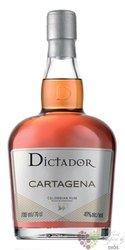 """Dictador """" Cartagena """" aged Colombian rum 40% vol.  0.70 l"""