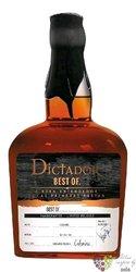 "Dictador the Best of 1987 "" Altisimo "" single cask Colombian rum 43% vol.  0.70 l"