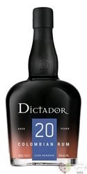 """Dictador """" Icon reserve """" aged 20 years Colombian rum 40% vol.  0.70 l"""
