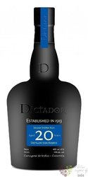 """Dictador """" Icon reserve """" aged 20 years Colombian rum 40% vol.  0.05 l"""