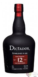 """Dictador """" Ultra premium reserve """" aged 12 years Colombian rum 40% vol.  0.70 l"""