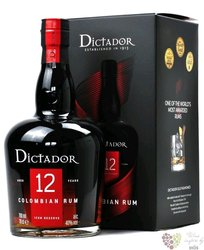 """Dictador """" Icon reserve """" aged 12 years gift box Colombian rum 40% vol.  0.70 l"""
