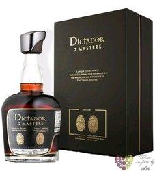 """Dictador 2 Masters 1976 """" Laballe Armagnac """" unique Colombian rum 46% vol.  0.70 l"""