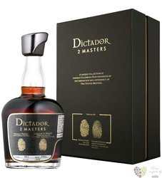 """Dictador 2 Masters 1972 """" Glenfarclas whisky """" unique Colombian rum 45% vol.  0.70 l"""
