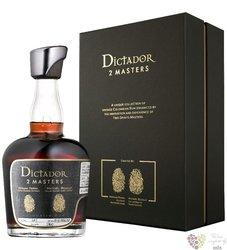 "Dictador 2 Masters 1978 "" Cognac Hardy "" unique Colombian rum 41% vol.  0.70 l"