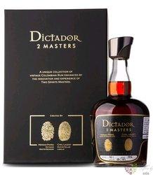 "Dictador 2 Masters 1977 "" Royal Tokaji "" unique Colombian rum 46.2% vol.  0.70 l"