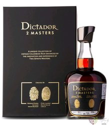 """Dictador 2 Masters 1980 """" Chateau d´Arche Sauternes """" unique Colombian rum 45% vol.  0.70 l"""