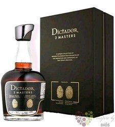 """Dictador 2 Masters 1974 """" Glenfarclas whisky """" unique Colombian rum 43.4% vol.  0.70 l"""