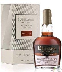"Dictador Capitulo Uno 1996 "" Sherry cask "" Colombian rum 44% vol.  0.70 l"