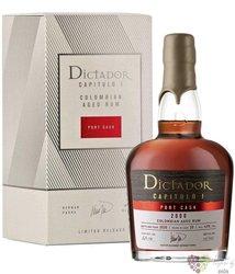 "Dictador 2000 "" Capitulo Uno Port Cask "" Colombian rum 43% vol.  0.70 l"
