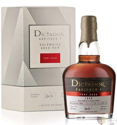 "Dictador 1998 "" Capitulo Uno Port Cask "" Colombian rum 42% vol.  0.70 l"