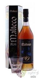 "Malteco "" Aňejo Suave "" aged 10 years glass set rum of Guatemala 40.5% vol.   0.70 l"