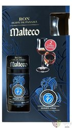 "Malteco reserva "" Aňeja "" aged 10 years glass set Panamas rum 40% vol.  0.70 l"